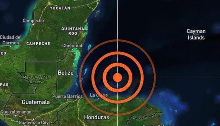 Sismo en Honduras fue percibido en sur de Quintana Roo