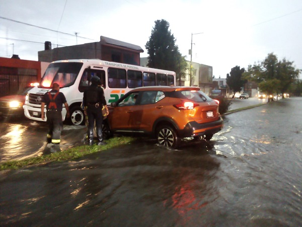 Reportes atendidos tras la lluvia de este martes en Aguascalientes