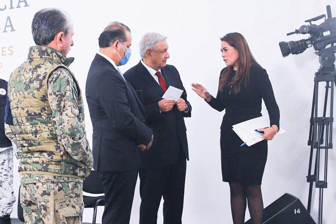 Pide Tere Jiménez a AMLO más recursos para Aguascalientes
