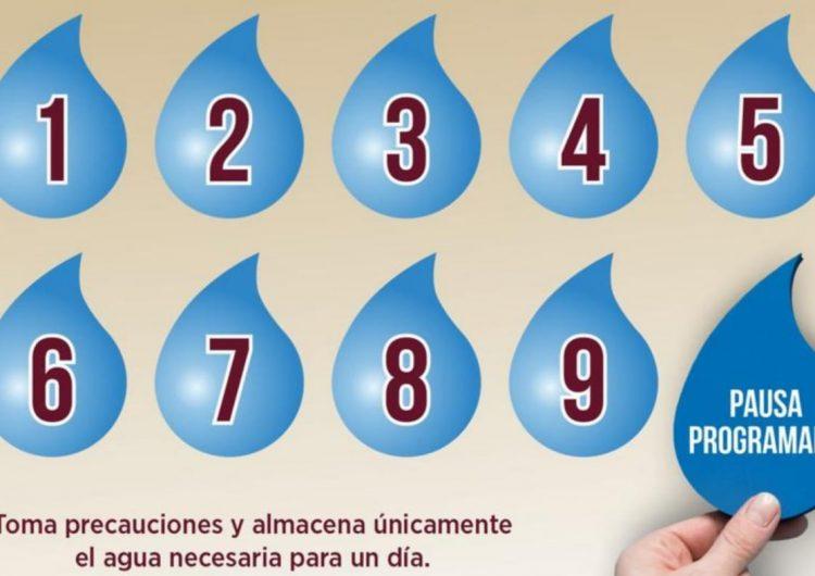 Anuncian cortes de agua por secciones en Tijuana, comenzando este lunes