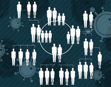 Gráficos muestran cómo una reunión familiar terminó con 41 contagiados de COVID-19 en 16 días