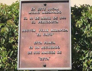Retiramos placa del periodista Héctor Félix Miranda por error: alcalde