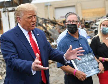 """Trump monta encuentro con el """"dueño"""" de una tienda destruida en las protestas de Kenosha"""