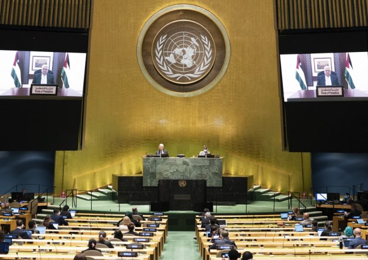 Presidente de la Autoridad Palestina pide a la ONU una conferencia internacional para un proceso de paz