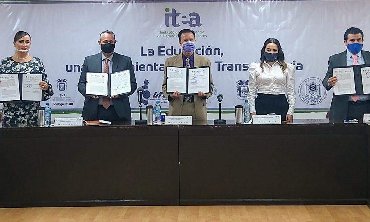 Firma ITEA convenio de colaboración con universidades públicas del estado