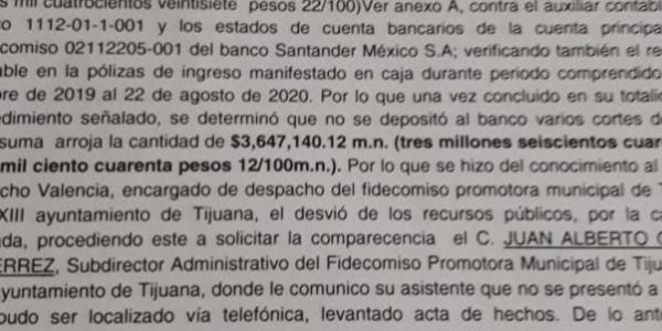 Denuncian a funcionario municipal de Tijuana por desfalco millonario