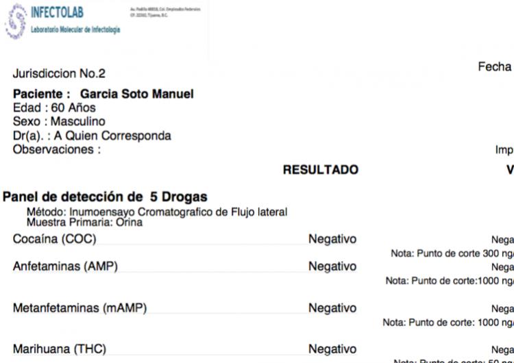 Antidoping al gerente de Fisamex se hizo en laboratorio de un funcionario estatal