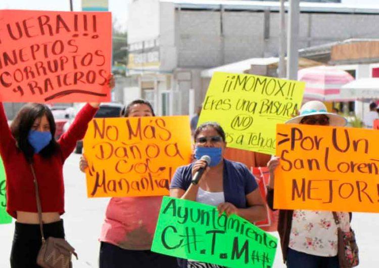 Habitantes de Teotipilco para evitar construcción de gasolinería, cierran la federal México-Tehuacán