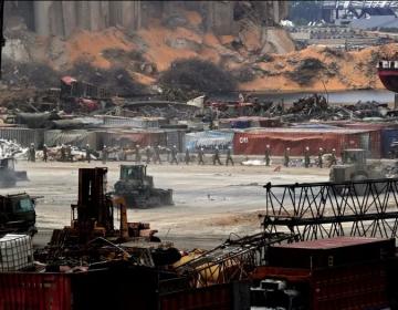 El ejército libanés encontró más toneladas de amonio explosivo en puerto de Beirut