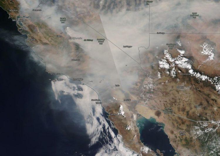 Prevén 'lluvia' de ceniza en Mexicali por incendios forestales