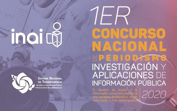 Convoca INAI al Concurso Nacional de Periodismo de Investigación y Aplicaciones de información