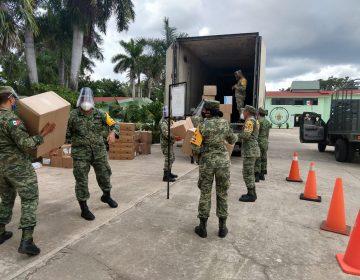 Sigue llegando equipo médico a la zona Militar