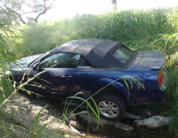 Sigue sin aparecer el dueño del automóvil que cayó a Arroyo del Molino
