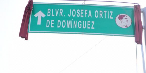 Formalizan cambio de nombre a bulevar Josefa Ortiz De Domínguez