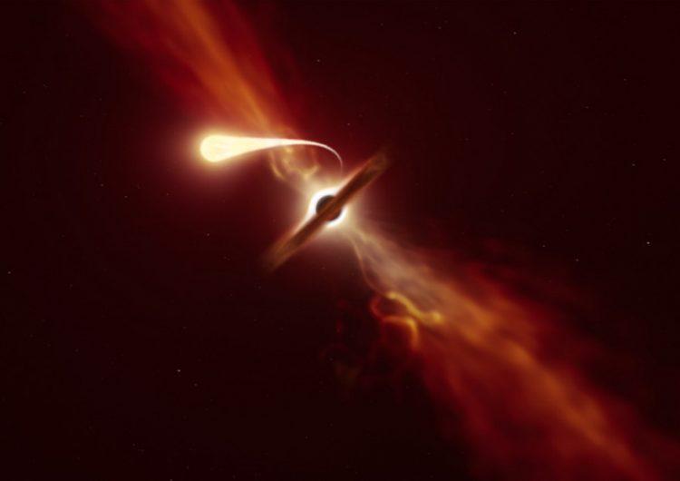 Científicos observan cómo un agujero negro 'succiona' a una estrella