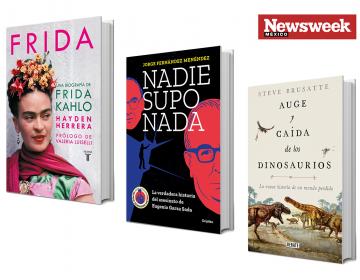 Tres libros: Hayden Herrera, Jorge Fernández, Stephen Brusatte…
