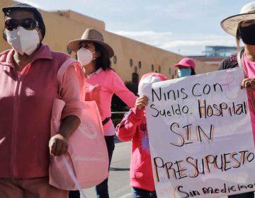 Mujeres con cáncer piden medicinas y quimioterapias