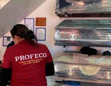 Profeco-Puebla clausuró tres funerarias