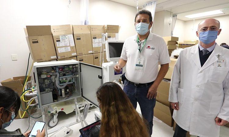 Recibe Hospital Hidalgo 45 nuevos ventiladores artificiales para atención de pacientes con Covid-19
