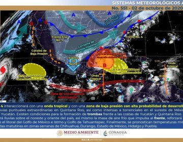 Lluvias por frente frío y riesgo de ciclón en Península