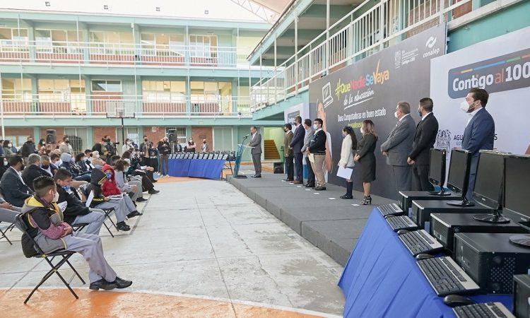 Inicia gobierno estatal entrega de equipo de cómputo a estudiantes de escasos recursos