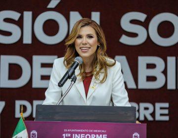 Seguridad y coordinación con Bonilla, temas prioritarios de Marina del Pilar en su primer informe