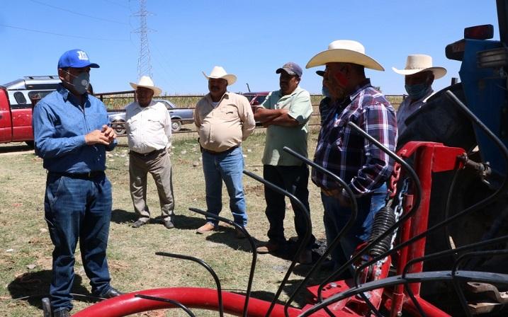 Gestiona SEDATUM apoyos para implementos agrícolas en Jesús María