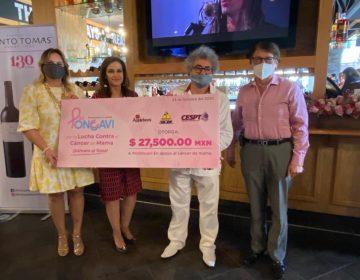 Recaudan fondos contra el cáncer de mama en Tijuana con charla sobre el vino