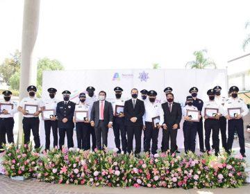 Reconocen a policías municipales destacados en Aguascalientes