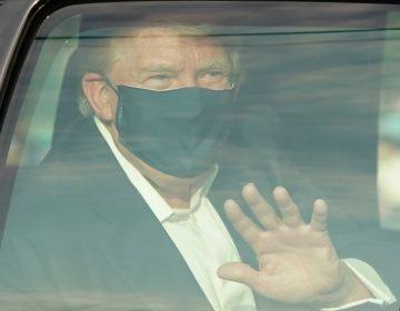 En pleno tratamiento, Trump da un paseo en automóvil para saludar a sus seguidores