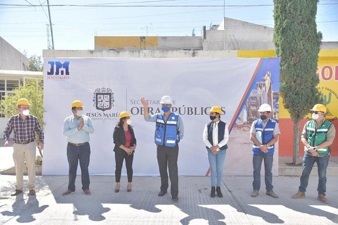 Inicia obra hidrosanitaria en Col. El Llano en Jesús María