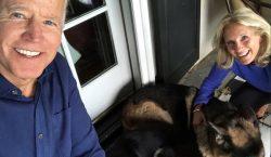 Biden se rompe un pie jugando con su perro 'Major'