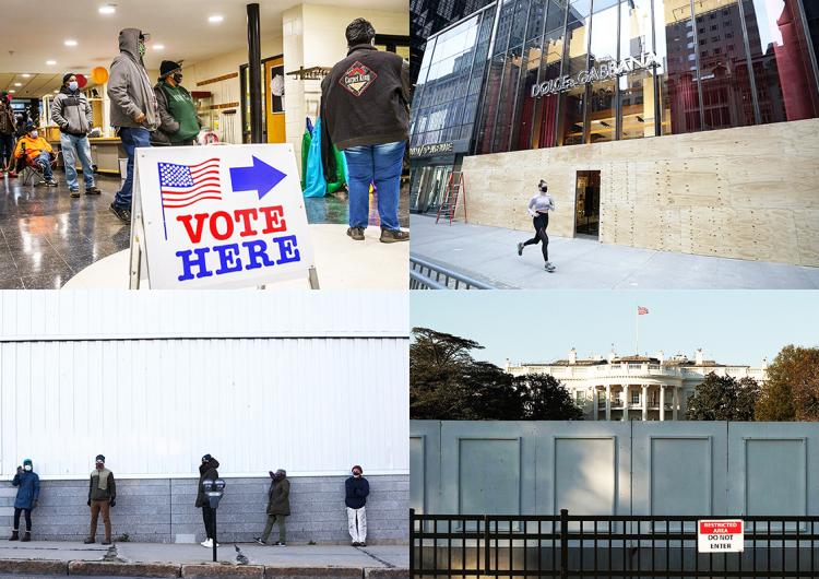 Filas de votantes y muros de protección: así vive Estados Unidos el día de la elección (fotos)