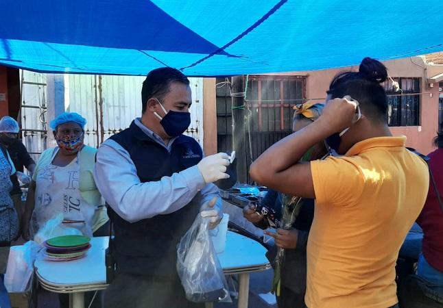 Mantiene municipio de Aguascalientes medidas sanitarias en mercados y tianguis