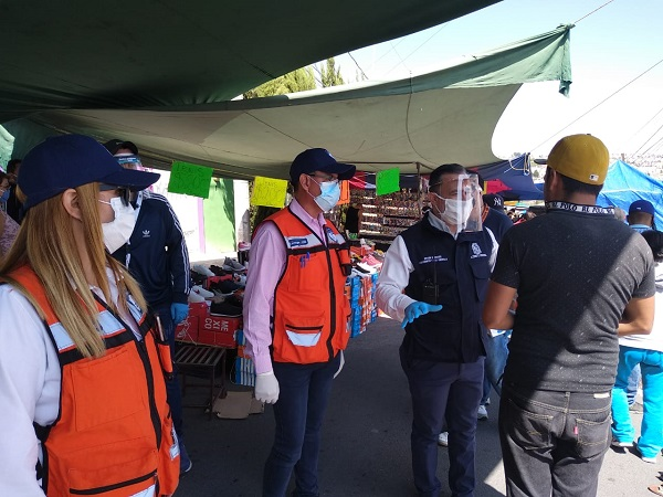 Inicia Guardia Sanitaria revisiones en tianguis de Aguascalientes