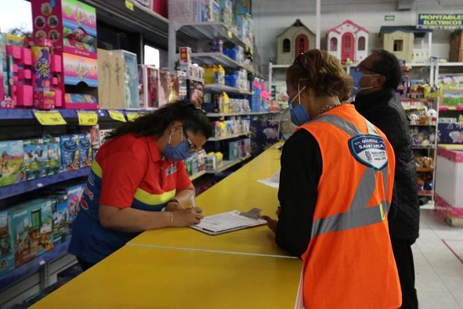 Refuerza Guardia Sanitaria revisión de protocolos en centros comerciales por el Buen Fin