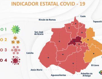 El Llano y Asientos avanzan al color amarillo en Indicador Estatal Covid