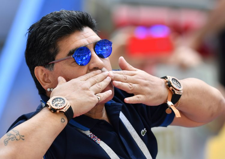 Al Senado, proyecto de ley para billete de 1,000 pesos de Maradona