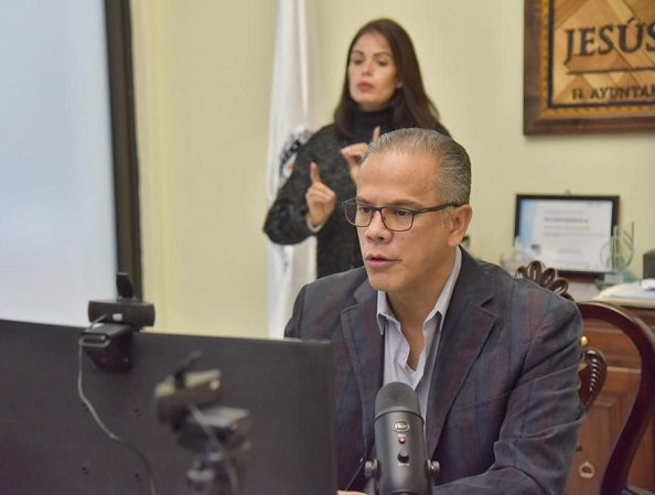 Pide presidente municipal de Jesús María no relajar medidas preventivas en fiestas decembrinas