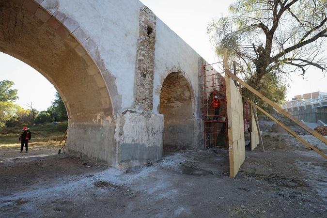 Restauración del antiguo puente a San Ignacio se realiza en apego a criterios de conservación del INAH