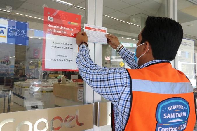 Ya suman 278 establecimientos suspendidos por la Guardia Sanitaria por incumplir protocolos