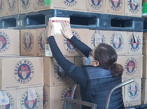 Decomisa Guardia Sanitaria 260 mil cervezas posiblemente adulteradas en Aguascalientes
