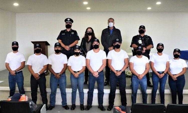 Se suman nueve cadetes más a las filas de la policía municipal de Jesús María