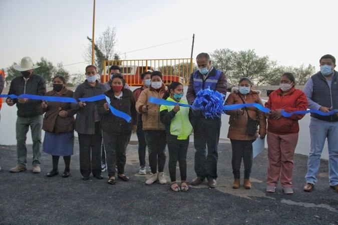 Concluye construcción de paso pluvial en la Col. Ejidal