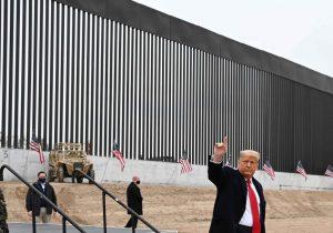 Trump celebra la construcción del muro y agradece a AMLO su amistad