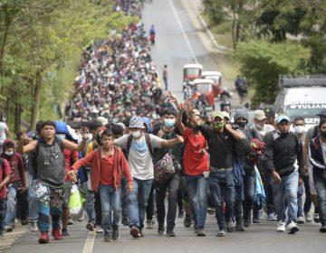 Caravana rumbo a Estados Unidos suma más de 9,000 migrantes en Guatemala