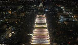 EU exhibe 191,500 banderas y 56 pilares de luz que…