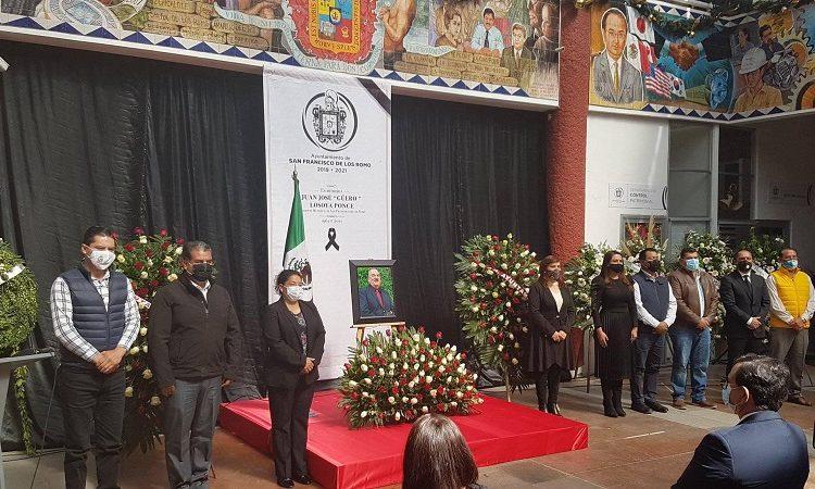 Realizan homenaje póstumo a alcalde de San Francisco de los Romo