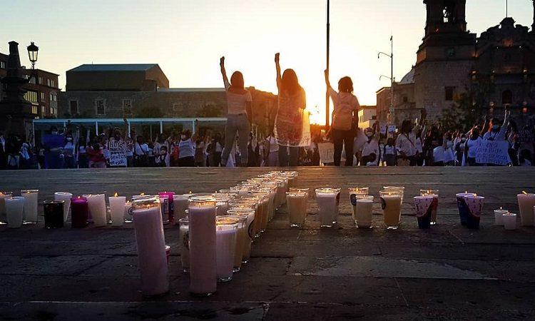 Protestan contra feminicidios en Aguascalientes