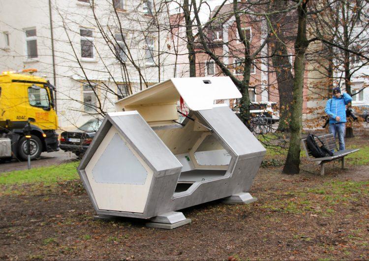 Esta ciudad instaló novedosas cápsulas para refugiar a personas sin hogar durante el invierno